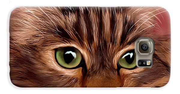 Katie- Custom Cat Portrait Galaxy S6 Case