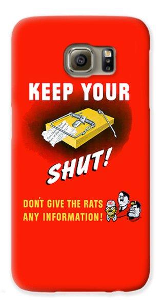 Mice Galaxy S6 Case - Keep Your Trap Shut -- Ww2 Propaganda by War Is Hell Store
