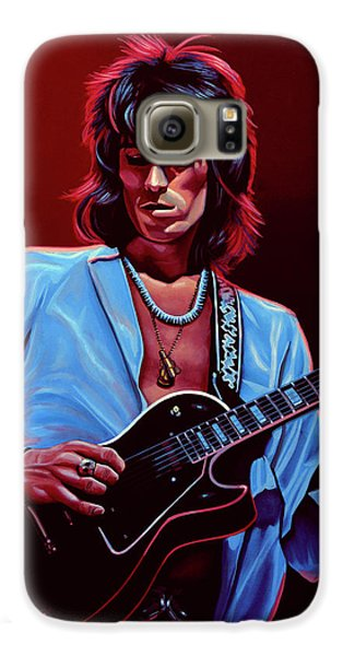 Musicians Galaxy S6 Case - Keith Richards The Riffmaster by Paul Meijering