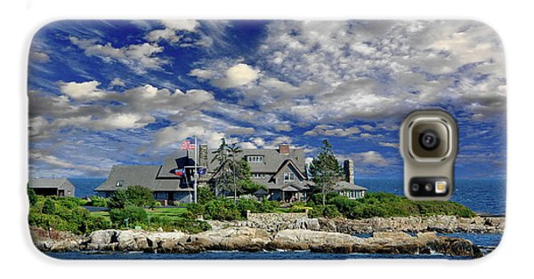 George Bush Galaxy S6 Case - Kennebunkport, Maine - Walker's Point by Russ Harris
