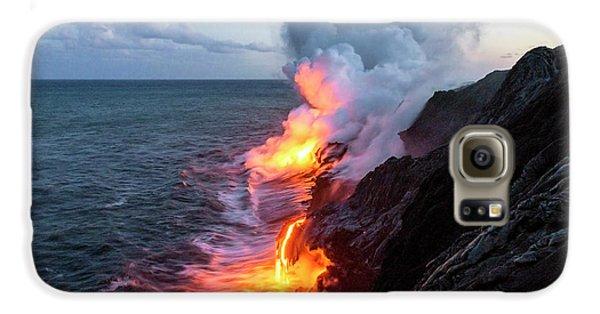 Travel Galaxy S6 Case - Kilauea Volcano Lava Flow Sea Entry 3- The Big Island Hawaii by Brian Harig
