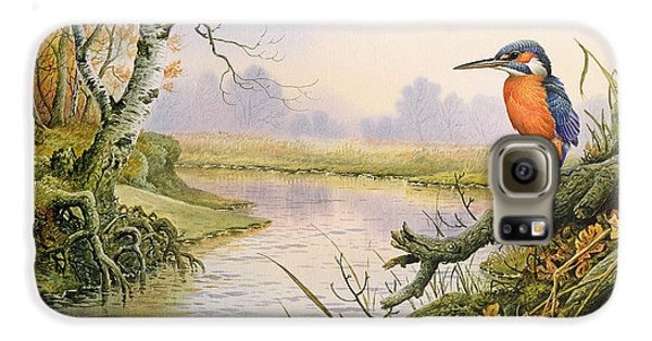Kingfisher Galaxy S6 Case - Kingfisher  Autumn River Scene by Carl Donner