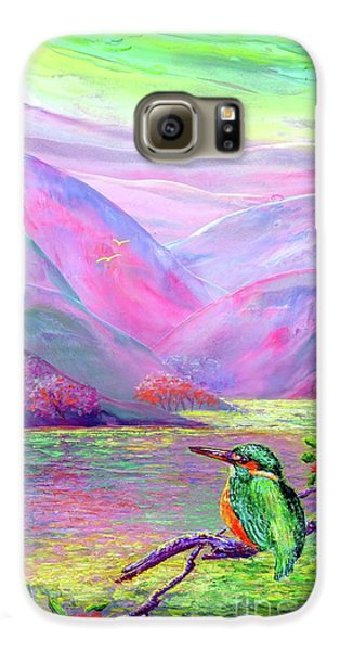 Kingfisher, Shimmering Streams Galaxy S6 Case by Jane Small