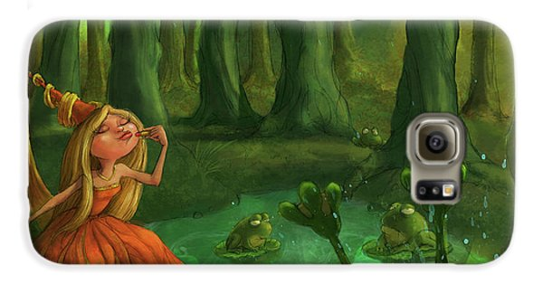 Castle Galaxy S6 Case - Kissing Frogs by Andy Catling