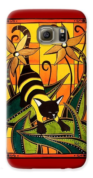 Kitty Bee - Cat Art By Dora Hathazi Mendes Galaxy S6 Case by Dora Hathazi Mendes