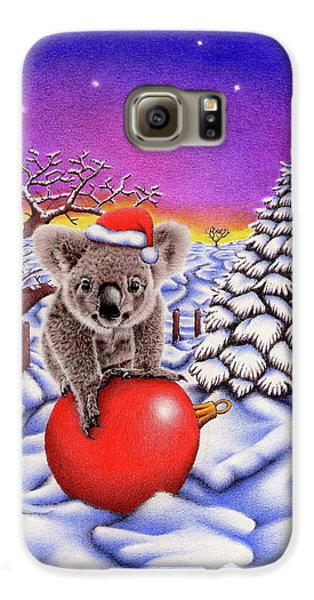 Koala On Christmas Ball Galaxy S6 Case by Remrov