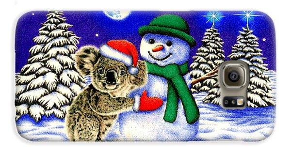 Koala With Snowman Galaxy S6 Case