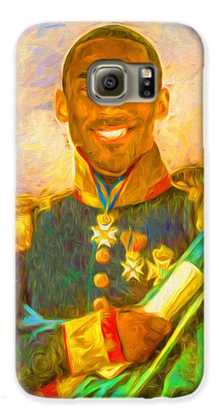 Kobe Bryant Floor General Digital Painting La Lakers Galaxy S6 Case