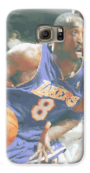 Kobe Bryant Lebron James Galaxy S6 Case by Joe Hamilton