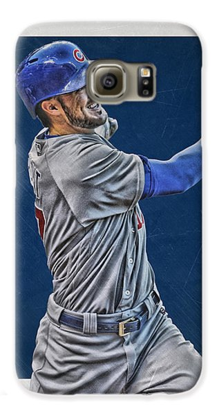 Kris Bryant Chicago Cubs Art 3 Galaxy S6 Case by Joe Hamilton