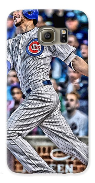 Kris Bryant Chicago Cubs Galaxy S6 Case by Joe Hamilton