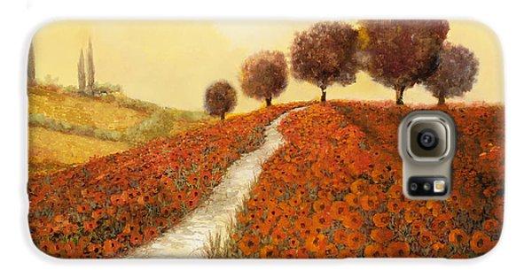 Landscape Galaxy S6 Case - La Collina Dei Papaveri by Guido Borelli
