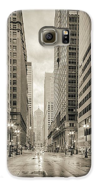 Lasalle Street Canyon With Chicago Board Of Trade Building At The South Side - Chicago Illinois Galaxy S6 Case