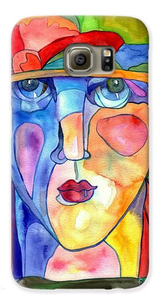 Doctor Galaxy S6 Case - Lady In Hat Watercolor by Suzann's Art
