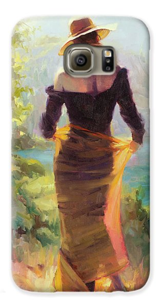 Impressionism Galaxy S6 Case - Lady Of The Lake by Steve Henderson