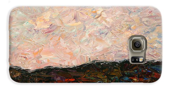 Impressionism Galaxy S6 Case - Land And Sky by James W Johnson