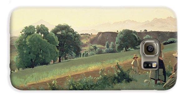 Landscape At Mornex Galaxy S6 Case by Jean Baptiste Corot