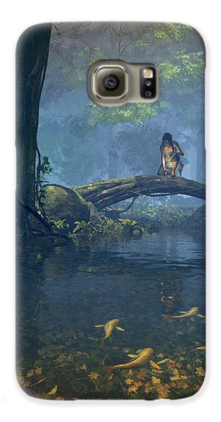 Elf Galaxy S6 Case - Lantern Bearer by Cynthia Decker