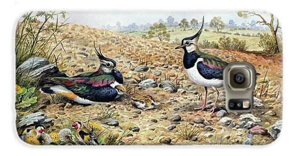 Lapwing Family With Goldfinches Galaxy S6 Case by Carl Donner