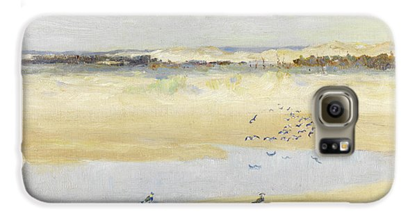 Lapwings By The Sea Galaxy S6 Case by William James Laidlay