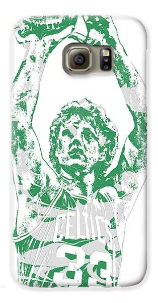 Larry Bird Galaxy S6 Case - Larry Bird Boston Celtics Pixel Art 5 by Joe Hamilton