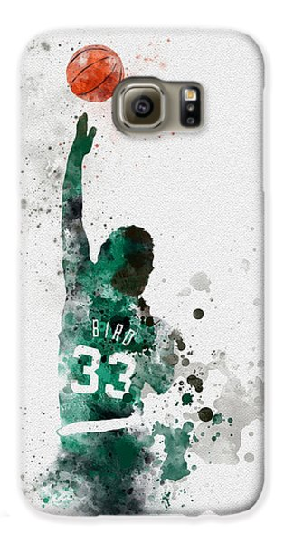 Larry Bird Galaxy S6 Case by Rebecca Jenkins
