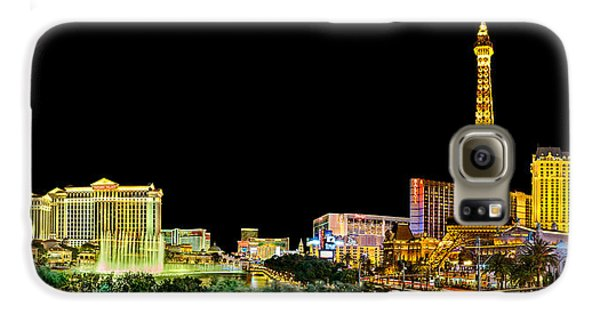 Las Vegas At Night Galaxy S6 Case by Az Jackson