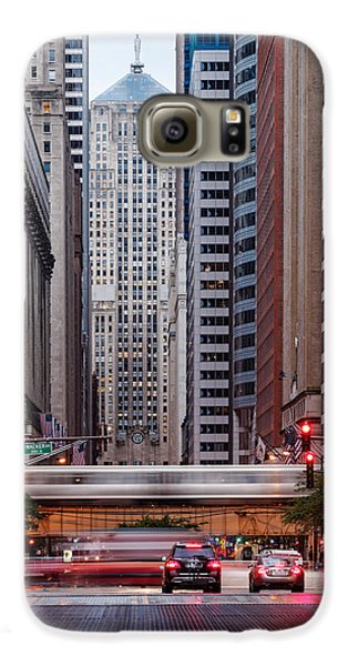 Lasalle Street Canyon With Chicago Board Of Trade Building At The South Side II - Chicago Illinois Galaxy S6 Case