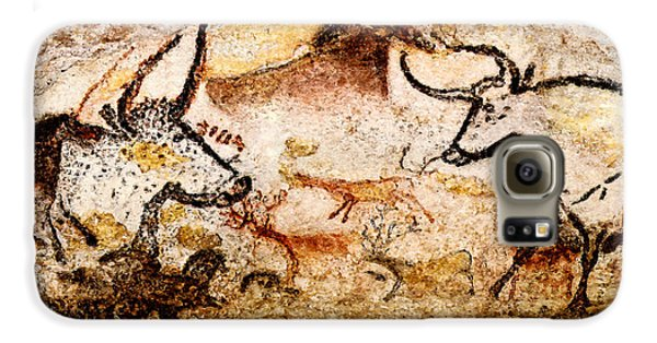 Lascaux Hall Of The Bulls - Deer And Aurochs Galaxy S6 Case