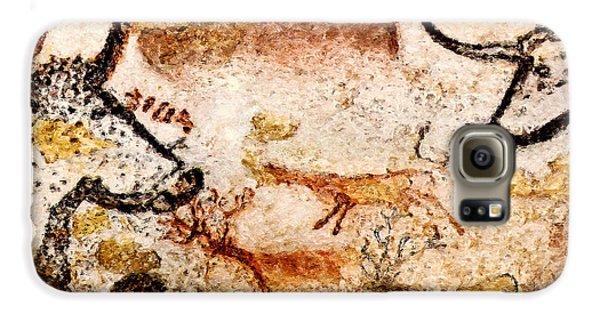 Lascaux Hall Of The Bulls - Deer Between Aurochs Galaxy S6 Case