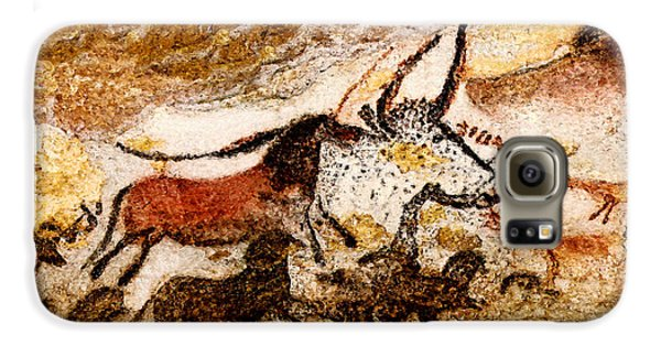 Lascaux Hall Of The Bulls - Horses And Aurochs Galaxy S6 Case