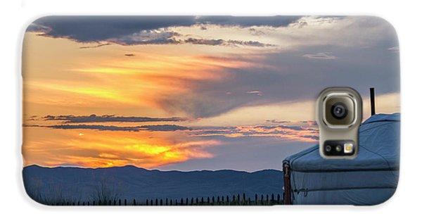 Galaxy S6 Case featuring the photograph Last Golden Light, Elsen Tasarkhai, 2016 by Hitendra SINKAR