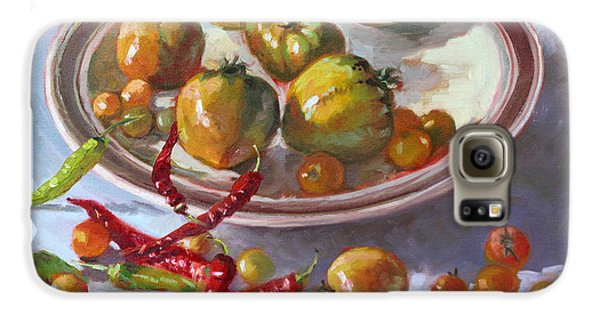 Tomato Galaxy S6 Case - Last Tomatoes From My Garden by Ylli Haruni