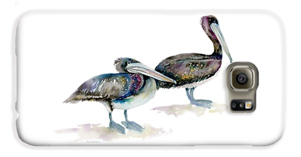 Laurel And Hardy, Brown Pelicans Galaxy S6 Case by Amy Kirkpatrick