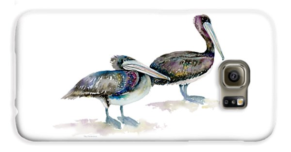 Laurel And Hardy, Brown Pelicans Galaxy S6 Case