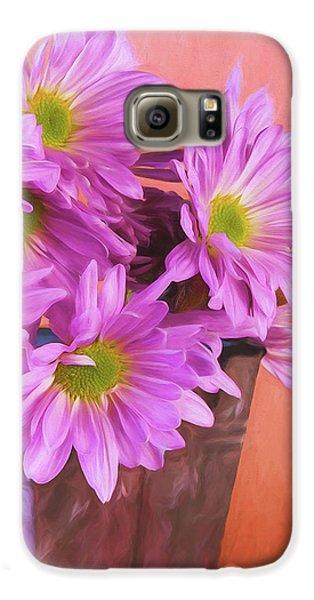 Daisy Galaxy S6 Case - Lavender Daisies by Tom Mc Nemar
