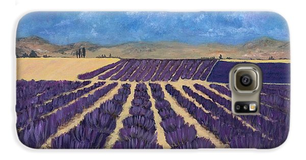 Galaxy S6 Case featuring the painting Lavender Field by Anastasiya Malakhova