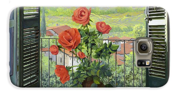 Rose Galaxy S6 Case - Le Persiane Sulla Valle by Guido Borelli