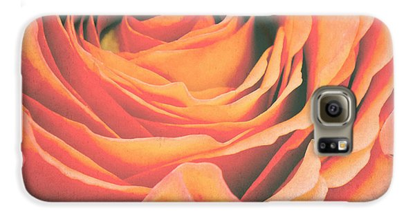 Rose Galaxy S6 Case - Le Petale De Rose by Angela Doelling AD DESIGN Photo and PhotoArt