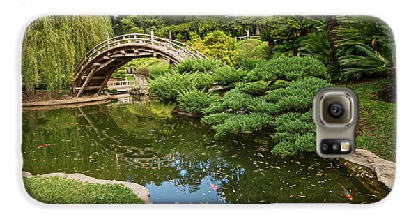 Lead The Way - The Beautiful Japanese Gardens At The Huntington Library With Koi Swimming. Galaxy S6 Case