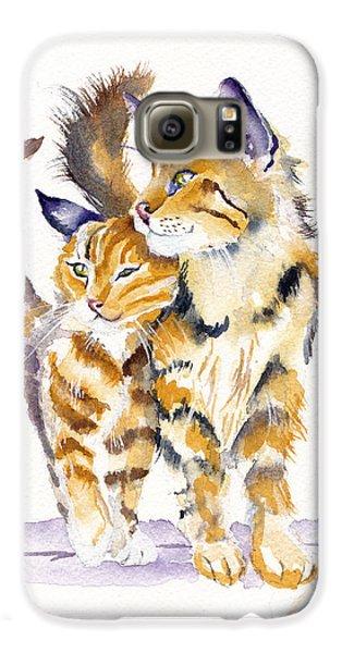 Cat Galaxy S6 Case - Lean On Me by Debra Hall