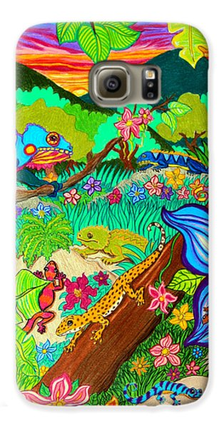 Salamanders Galaxy S6 Case - Leapin Lizards by Nick Gustafson