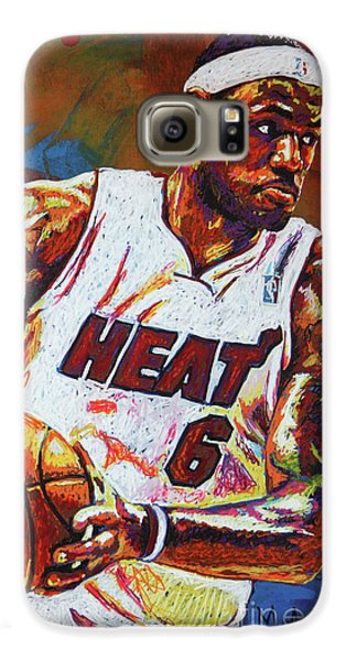 Lebron James 3 Galaxy S6 Case by Maria Arango