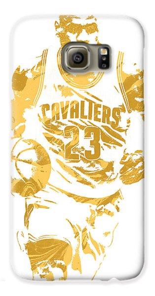 Lebron James Cleveland Cavaliers Pixel Art 7 Galaxy S6 Case by Joe Hamilton
