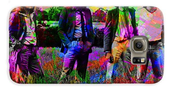 Led Zeppelin Band Portrait Paint Splatters Pop Art Galaxy S6 Case by Design Turnpike