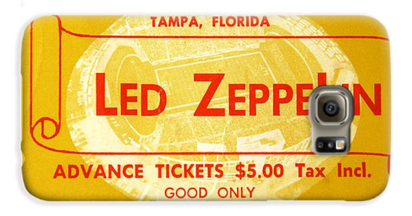 Led Zeppelin Galaxy S6 Case - Led Zeppelin Ticket by David Lee Thompson