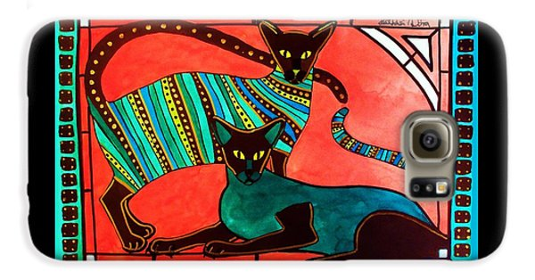Legend Of The Siamese - Cat Art By Dora Hathazi Mendes Galaxy S6 Case by Dora Hathazi Mendes