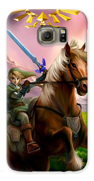 Legend Of Zelda- Link And Epona Galaxy S6 Case
