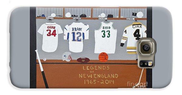 Larry Bird Galaxy S6 Case - Legends Of New England by Dennis ONeil