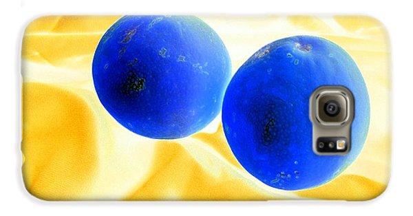 Lemon Blue Galaxy S6 Case by Florene Welebny